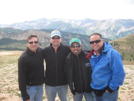 4 guys on a mountain
